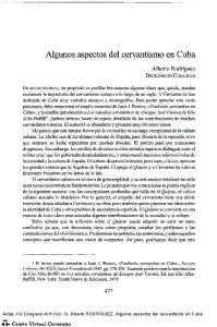 Algunos aspectos del cervantismo en Cuba