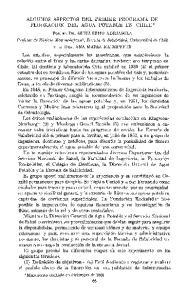 ALGUNOS ASPECTOS DEL PRIMER PROGRAMA DE FLUORACION DEL AGUA POTABLE EN CHILE*