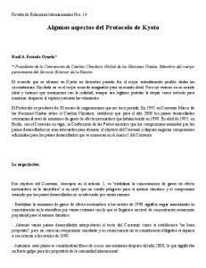 Algunos aspectos del Protocolo de Kyoto
