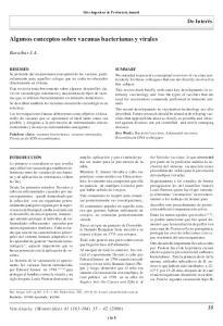 Algunos conceptos sobre vacunas bacterianas y virales
