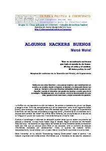 ALGUNOS HACKERS BUENOS