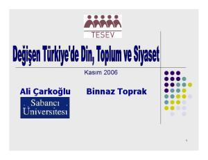 Ali Çarkoğlu Binnaz Toprak