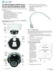 ALI-NP1016VRH 6.0 MP IP Dome Camera Quick Installation Guide