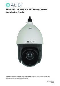 ALI-NS7012R 2MP 20x PTZ Dome Camera Installation Guide