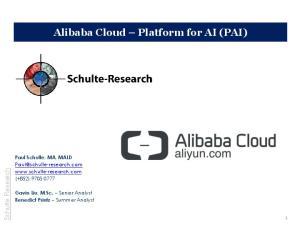 Alibaba Cloud Platform for AI (PAI)