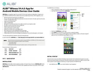 ALIBI Witness V4.4.0 App for Android Mobile Devices User Guide