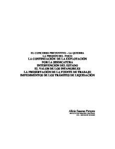 Alicia Susana Pereyra INSTITUTO DE DERECHO CONCURSAL COL. ABOGADOS ROSARIO