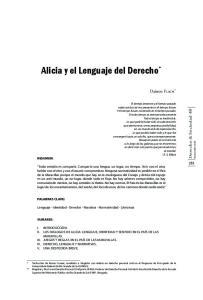 Alicia y el lenguaje del Derecho *