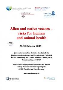 Alien and native vectors risks for human and animal health