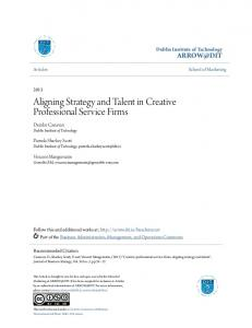 Aligning Strategy and Talent in Creative Professional Service Firms
