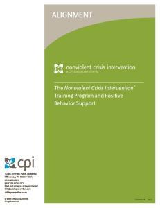 alignment The Nonviolent Crisis Intervention Training Program and Positive Behavior Support
