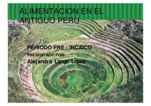 ALIMENTACION EN EL ANTIGUO PERU