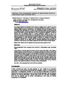 Alimento micro encapsulado aumenta la supervivencia larval en Odontesthes regia (Humboldt 1821)