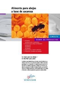 Alimento para abejas a base de sacarosa