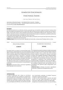 Alimentos Funcionales. Functional Foods
