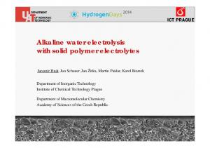 Alkaline water electrolysis with solid polymer electrolytes