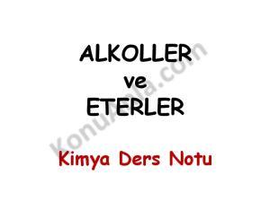 ALKOLLER ve ETERLER. Kimya Ders Notu
