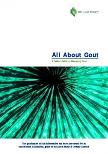 All About Gout A Patient Guide to Managing Gout
