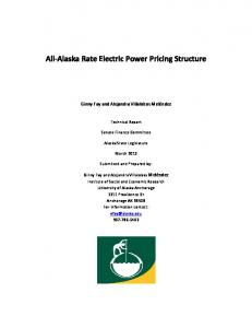 All-Alaska Rate Electric Power Pricing Structure