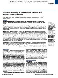 All-cause Mortality in Hemodialysis Patients with Heart Valve Calcification