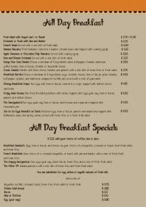All Day Breakfast Specials