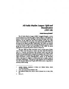 All-India Muslim League: Split and Reunification ( )