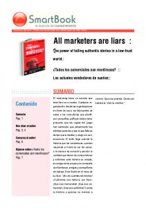 All marketers are liars :