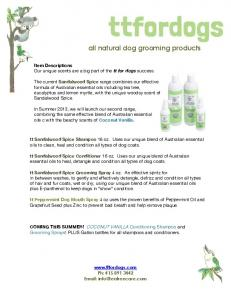 all natural dog grooming products