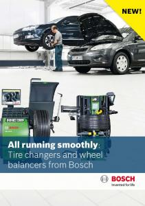 All running smoothly: Tire changers and wheel balancers from Bosch