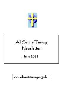 All Saints Turvey Newsletter