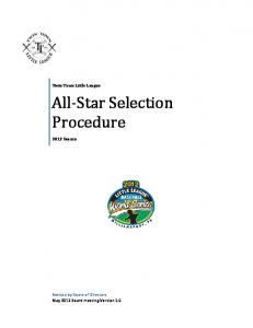 All-Star Selection Procedure