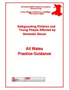All Wales Practice Guidance