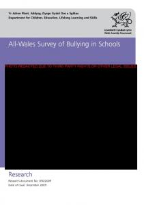 All-Wales Survey of Bullying in Schools