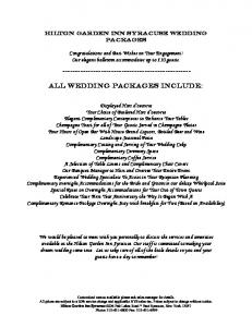All Wedding Packages Include: