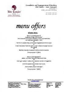 all-year menu: Price per person: 27,60