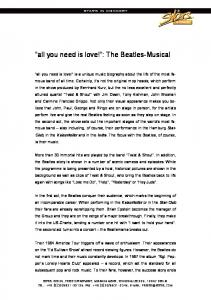 all you need is love! : The Beatles-Musical