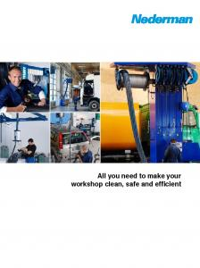 All you need to make your workshop clean, safe and efficient