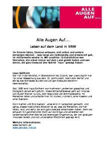 Alle Augen Auf... Leben auf dem Land in NRW