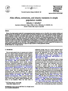 Allee effects, extinctions, and chaotic transients in simple population models