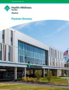 Allegheny Health Network Network. Physician Directory