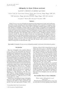 Allelopathy in wheat (Triticum aestivum)