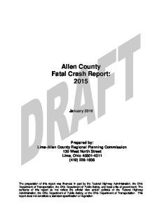 Allen County Fatal Crash Report: 2015