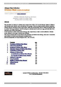 Allergen Data Collection: Chicken Meat (Gallus domesticus)