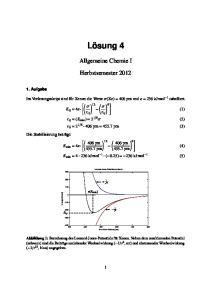 Allgemeine Chemie I Herbstsemester 2012
