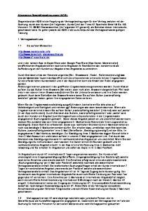 Allgemeine Geschäftsbedingungen (AGB):