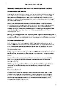 Allgemeine Informationen zum Einsatz der Elektrobusse in der Stadt Graz