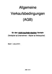 Allgemeine Verkaufsbedingungen (AGB)