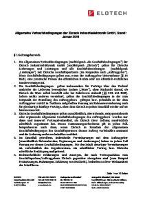 Allgemeine Verkaufsbedingungen der Elotech Industrieelektronik GmbH, Stand: Januar 2016