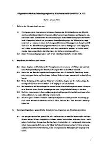 Allgemeine Verkaufsbedingungen der Kocherscheid GmbH & Co. KG