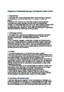 Allgemeine Verkaufsbedingungen Huchtemeier Papier GmbH